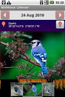 Screenshot of BirdWatch Calendar