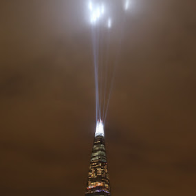 The Shard New Years Eve 2014 by Bill Green - City,  Street & Park  Night ( the shard, london, 2014, new years eve )