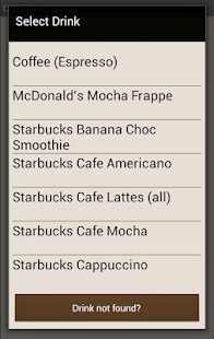 Caffeine Counter - screenshot