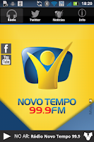 Screenshot of Rádio Novo Tempo 99.9 FM