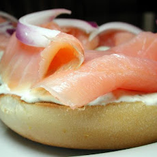 Smoked Salmon and Cream Cheese Open Sandwich for One