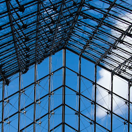 rooflight by Adrian Podaru - Buildings & Architecture Architectural Detail ( roof, louvre, sky, triangle, glass,  )