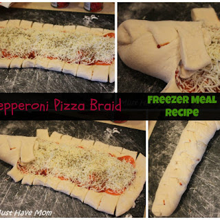 Pepperoni Pizza Braid Freezer Meal