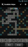 Screenshot of Scrabble Helper