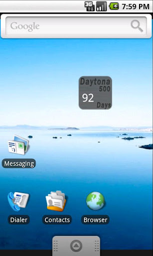 Daytona500 Countdown Widget
