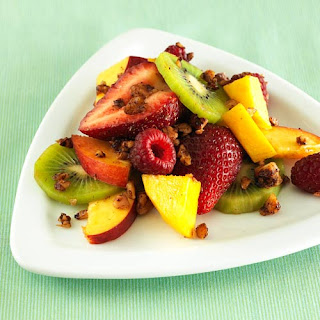 Toasted Sweet & Hot Walnut Fruit Salad