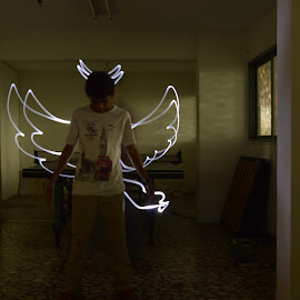 Painting with lights by Vedant Acharya - Abstract Light Painting ( #light, #style, #tail, #wings, #painting, #horns, #artistic,  )