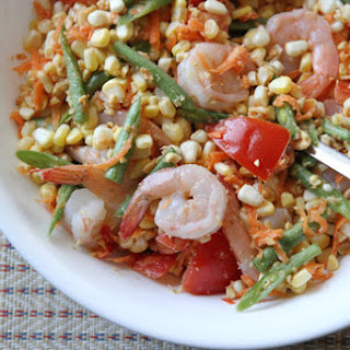 Corn Som Tam with Shrimp