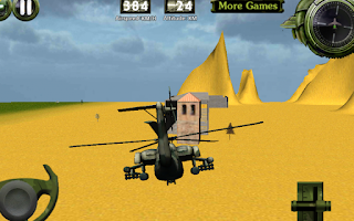 Screenshot of Combat helicopter 3D flight