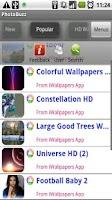 Screenshot of Picasa and Flickr Browser