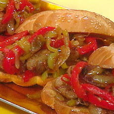 Sausage, Pepper and Onion Hoagies