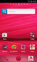 Screenshot of Pink HD GO Launcher EX Theme