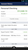 Screenshot of Xplore FCU Mobile Banking