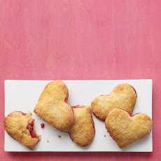 Pear-Raspberry Heart Pies