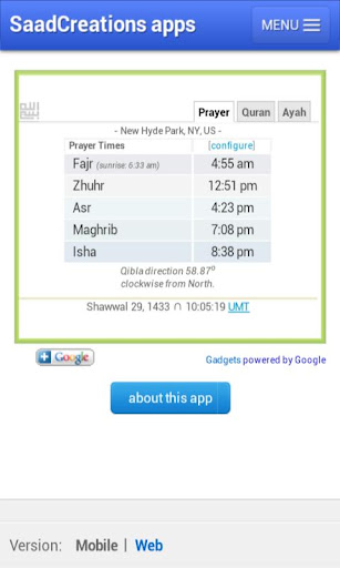 Prayer Times Simple