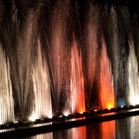 Fountain @ JP Park by Diliban P - City,  Street & Park  Fountains ( music, fountains, colors, fountain, musical fountain, jp park,  )