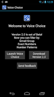 Screenshot of Voice Choice