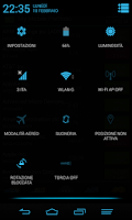 Screenshot of Blue Infinitum Theme - Dark