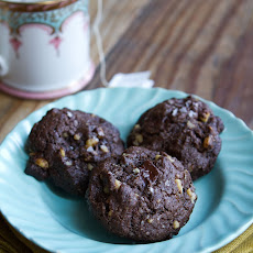 Dark Chocolate Walnut Cookies