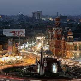 Night view Multan city  by Ghazan Joyia - City,  Street & Park  Markets & Shops ( multan city )