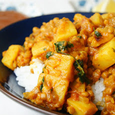 Indian Red Lentil And Potato Dhal