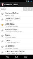 Screenshot of CinéTime