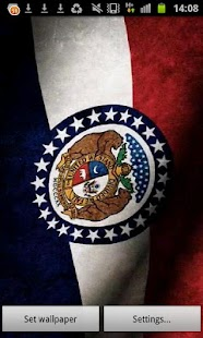 Missouri Flag Live Wallpaper - screenshot