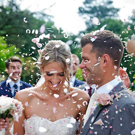 Jess & Chris's big day by Andrew Robinson - Wedding Bride & Groom ( wedding photography, confetti, bride, groom, Wedding, Weddings, Marriage )