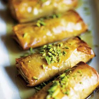 Phyllo Pastry with Nuts and Honey Syrup