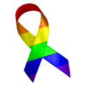 Rainbow Awareness Ribbon Clock icon