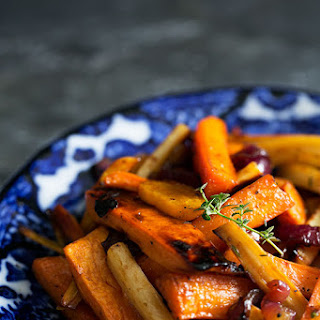 Cider Vinaigrette Roasted Root Vegetables