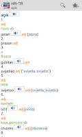 Screenshot of Croatian<>Turkish Dictionary T