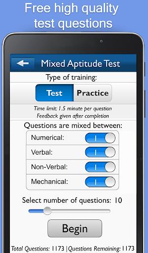 Aptitude Test Trainer - screenshot