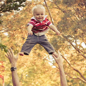 Autumn High by Pierre Vee - Babies & Children Children Candids ( throw, autumn, high, boy, kid,  )