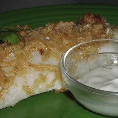 Sour Cream & Onion Baked Fish