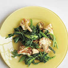 Broccoli Rabe with Orange and Cauliflower