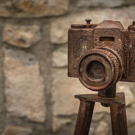 The immortalised camera by Liam Coburn Dunne - Artistic Objects Still Life ( artistic work, sculpture, nikon 24-70, nikon d800, camera, rust, cast iron, iron )