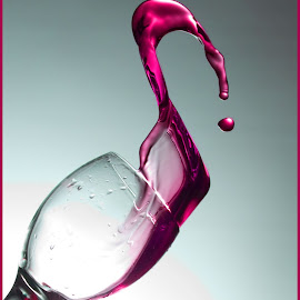 wine glass by John Sprague - Food & Drink Alcohol & Drinks ( wine, red, glass, spill, pink )