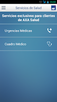 Screenshot of AXA Contigo