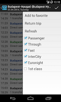 Screenshot of TElvira - Hungarian railway