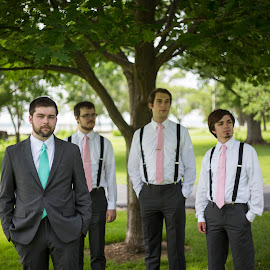 The Four by Logan Evans - Wedding Groom ( groomsmen, tree, color, green, four, groom )