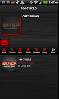 Screenshot of 104.7 KCLD
