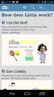 Screenshot of Get Free Stuff on Listia