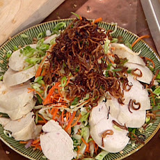 Vietnamese Crispy Carrot and Cabbage Salad with Sliced Chicken and Chile-Lime Marinade
