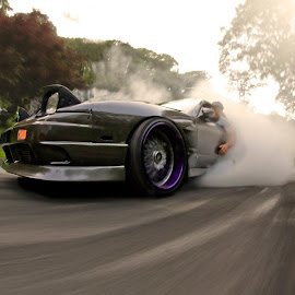 Burnout by Chris Churchill - Transportation Automobiles