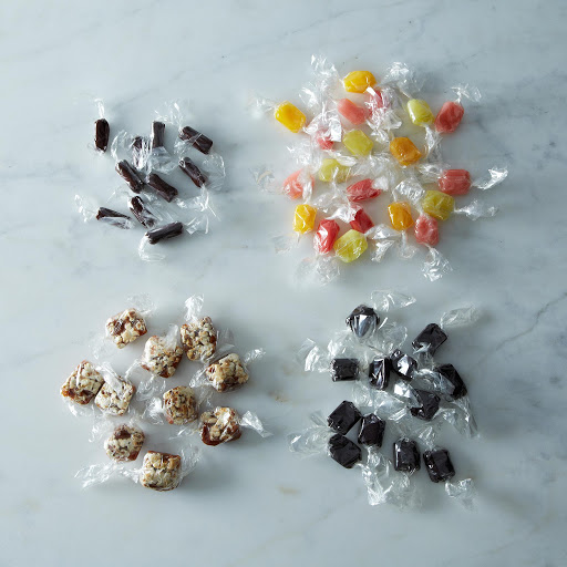 Salty Licorice, Twizzlie Rolls, Popcorn Caramels, Dreams Come Chew QUIN Variety Collection