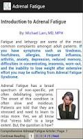 Screenshot of Adrenal Fatigue
