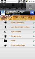 Screenshot of Fish Recipes!