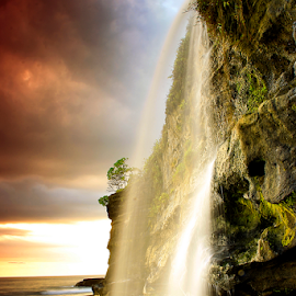 by Choky Ochtavian Watulingas - Landscapes Travel ( sands, choky sinam, waterscape, sunset, waterfall, beach, landscape )