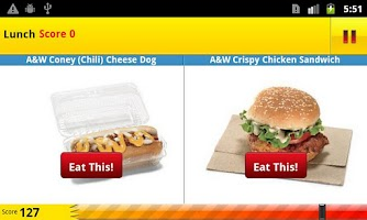 Screenshot of The Eat This, Not That! Game